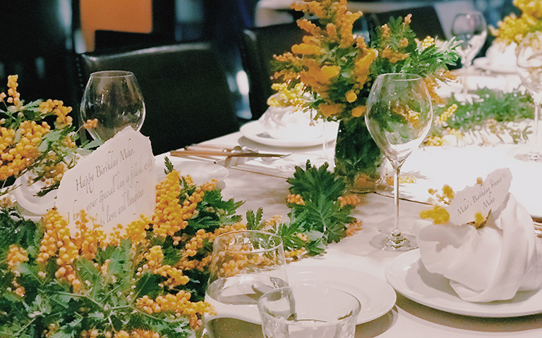 Mimosa Table Setting